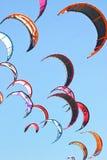 kiteboarding небо змеев Стоковое фото RF