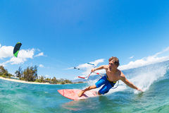 Kiteboarding Fotos de Stock Royalty Free