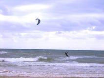 Kiteboarding Photos libres de droits