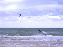 kiteboarding Obraz Royalty Free
