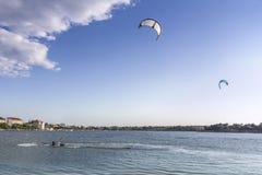 Kiteboarding Royaltyfri Bild