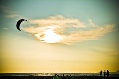 Kiteboarding Immagini Stock