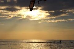 Kiteboarding Imagenes de archivo