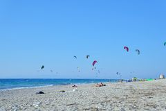 Kiteboarding Obraz Royalty Free