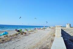 Kiteboarding Стоковые Изображения