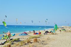 Kiteboarding Стоковое Фото