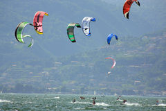 Kiteboarding cup royalty free stock photo