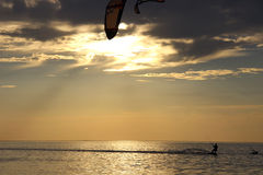 Kiteboarding. (from the English. kite -- board and kite -- Board, boarding -- riding a Board) or kiting -- a sport, which is based on the movement under the Stock Images