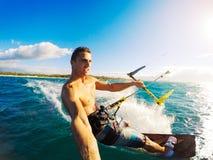 Kiteboarding, Extereme Sport Stock Images