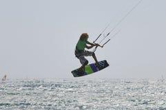 kiteboarding förlage för 2011 kopp Arkivfoton