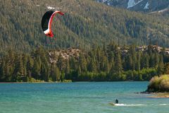 Kiteboarding at June Lake Stock Photos