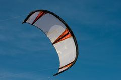 Kiteboarding kite. In the blue sky Stock Photography