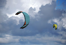 Kiteboarding kite Stock Photo
