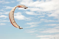 Kiteboarding kite in sky Stock Images