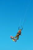 Kiteboarding, Kitesurfing Ακραίος αθλητισμός νερού Αέρας Acti Surfer Στοκ Εικόνα