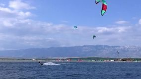Kiteboarding Kitesurfing Extreme Sport stock video
