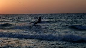 Kiteboarding Krańcowy żeglowanie zbiory wideo