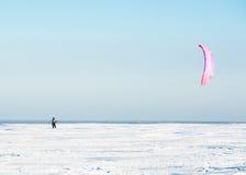 Kiteboarding lub śnieżna kania Obraz Royalty Free