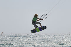 Kiteboarding Master Cup 2011. TENERIFE, SPAIN - AUGUST 12 Stock Photos