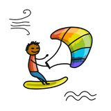 Kiteboarding, sketch for your design Stock Photos
