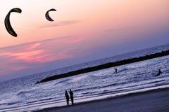 Kiteboarding sport Stock Photography