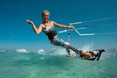 Kiteboarding Sport In Egipt Stock Photography