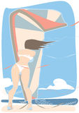 Kiteboardingswind Stock Afbeelding