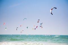 Kiteboards royalty free stock image