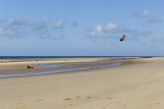 Kitebuggy sur la plage Photographie stock