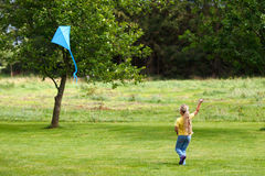 Kiteflying Stock Photo