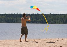 kiteflying Arkivbild