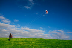 Kiteflying Royalty Free Stock Photo