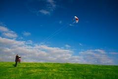 kiteflying Royaltyfri Foto