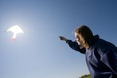 kiteflying Стоковое Фото
