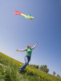 kiteflying Obraz Royalty Free