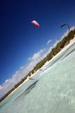 Kiter en vent du Madagascar photographie stock libre de droits
