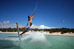 Kiter en vent du Madagascar photographie stock