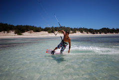 Kiter in Madagascar wind Royalty Free Stock Image