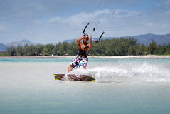 Kiter in Madagascar wind Stock Photo