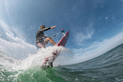 Kiter rides board Royalty Free Stock Photography