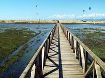 Kiters plaża Obrazy Royalty Free