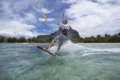 Kiters Sprung Lizenzfreie Stockfotografie