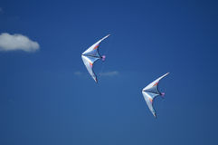 Kites. Two Kites in Blue Sky stock image