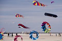 Kites. Kite festival in st. peter-ording / germany Royalty Free Stock Photo