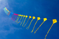 Kites. In the blue sky Stock Photography