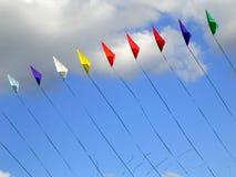 Kites. Colorful kites flying up Royalty Free Stock Photos