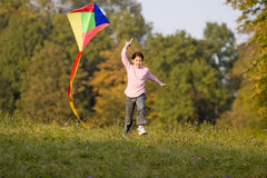 Kites. In the fall of the kites is a popular hobby Stock Photo