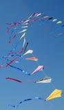 Kites. Flying colorful kites in the sky Stock Image