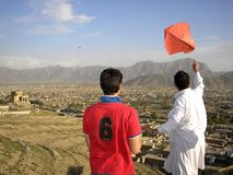 Kites above Kabul Royalty Free Stock Image