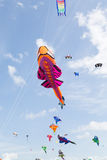 Kites against a blue sky Royalty Free Stock Photos